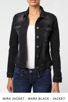 Erhältlich im online Shop von gang-fashion.com mit 8% Cashback für KGS Partner Partner, Jeans, Fit, Girls, Leather Jacket, Denim, Black, Fashion, Jackets