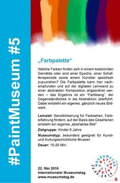 "#5 ""Farbpalette"" #PaintMuseum"
