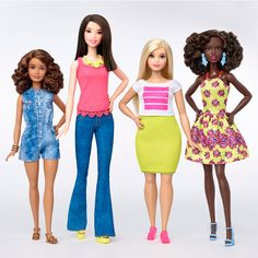 The iconic Barbie doll is now available in several different body types, including a more full-figured version for the first time