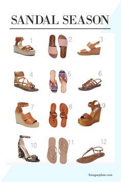 Looking for the perfect pair of sandals this Spring? Look no further...we've got you covered. Here are some of our favorite picks! | #HiSugarplum #SpringSandals #AllTheSandals #SpringFashion #SummerFashion #SpringFootwear #SummerFootwear