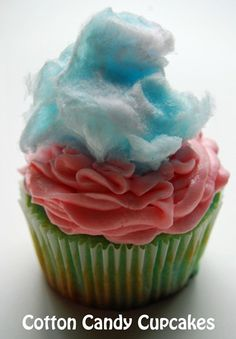 Cotton Candy  Cupcake - this one's for Joe