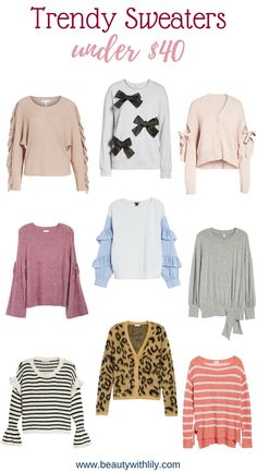 Sweaters Under $40   Affordable Sweaters   Cute, Cheap Sweaters   Beauty With Lily #fashionblogger #winterfashion #beautywithlily