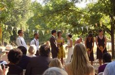 backyard wedding ceremony picture