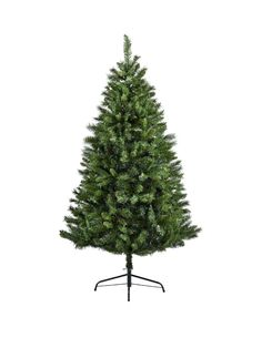 Pine Boughs on Burgundy Christmas Tree Pot Holders Set of Two