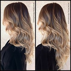 Blonde highlights with warm Lowlites naturalombre