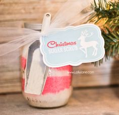 Christmas sugar scrub   free printable tag