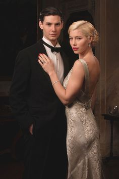 Easy Virtue (2008) Starring: Ben Barnes as John Whittaker and Jessica Biel as Larita Whittaker. Between world wars, the Whittaker's estate is sinking; only the iron will of Mrs. Whittaker staves off bankruptcy while she awaits her son John's return from the continent. To her dismay, he brings a bride: an American widow who races cars. (click thru for high res.)