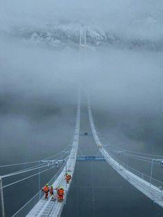 Hardanger Bridge, Norway, Vallavik