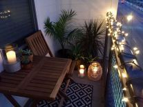 Romantic Small Apartment Balcony Decorating Ideas on A Budget (38)