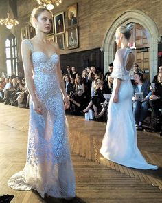Prepare for an insta overload because @alonlivnewhite was absolutely BREATHTAKING! Every single gown blew me away! #nybfw #AlonLivneWhite