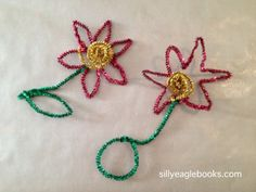 pipe cleaner poinsettia kids christmas craft