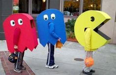 Great for group of kids Pac-Man and ghost costumes - Pac-Man . & Liu0027l Bucku0027s Creations: Homemade Pac-Man Halloween Costumes ...