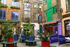 5 minutes away from Covent Garden, Neal's Yard is a tiny hidden square that looks more Californian than British.