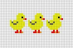 Ducks or chickens cross stitch. Bird cross stitch.