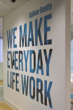 Fabulous concept to incorporate bold lettering on the walls - our mission, vision or values?