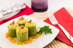 Zucchine ripiene con tofu