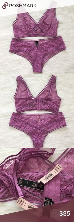 VS Set Bralette/ Panty Size Medium Nwt  ✨Check out my Closet ;) ✨✨ All Sale are Final No Return, No Exchange Victoria's Secret Intimates & Sleepwear Bras