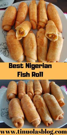 Best Nigerian recipe for fish rolls Fish Roll Recipe, Egg Roll Recipes, Fun Baking Recipes, Rolls Recipe, Fish Recipes, Snack Recipes, Cooking Recipes, Sesame Recipes, Beignets