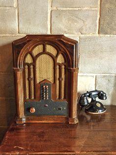 Radio and Telephone ~ Hearst Castle, San Simeon, California, via Flickr.