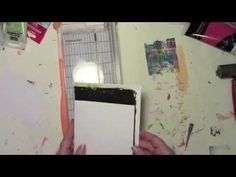 Oops after Oops on a Gelli Printed Halloween Card - YouTube with Carolyn Dube