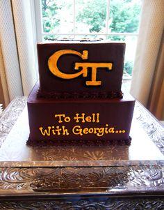 GA Tech cake