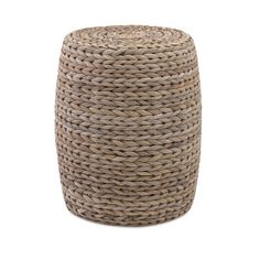 A banana leaf ottoman adds texture and a natural feel to a space.   $125