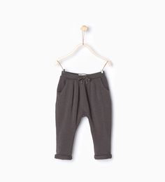 Image 1 of Organic cotton trousers with drawstring from Zara