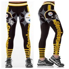 PITTSBURGH STEELERS Leggings  12 - Higher Quality 50ed1badcc6