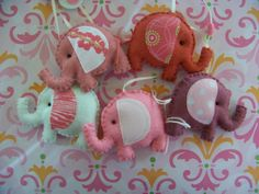 """Baby Mobile - Baby Crib Mobile - Elephant Mobile -  Nursery Baby Room """"Elephants Parade"""" (You can pick your colors). $50.00, via Etsy."""
