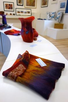 Felt Vessels and Wool Scarves - Exhibition - White Fox Gallery