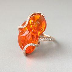 Hubert mexican fire opal organic earrings my favorite fire opal pendant by yael designs aloadofball Gallery