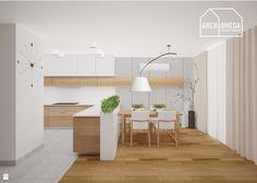 kuchnia z półwyspem w stylu nowoczesnym - zdjęcie od Archomega Biuro…