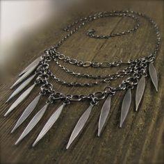 Modular Modern Layered Long Leaf Silver Necklace by Kelly Gilligan – Beth Millner Jewelry