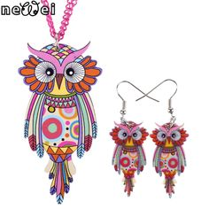 Bonsny Brand Jewelry Set Cat Pendant Dangle Earrings Six Colors New 2015 Statement Fashion Jewelry For Women Charm Accessories