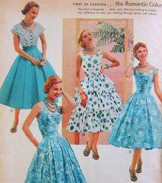 33777e63de33 1950s Fashion Women, Fifties Fashion, 50 Fashion, Women's Fashion Dresses,  Retro Fashion