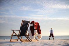 Santa on the sand! <*> (ChristmasInJuly, nautical, coastal, seashore, ocean, theme, Xmas, photography)