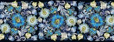 Blue and Yellow Flowers Facebook Cover CoverLayout.com