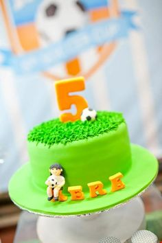 Cake for a Girl or Boy Soccer Party