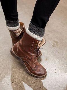 Doc Martens derbies & chaussettes