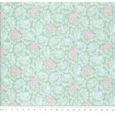 Tecido Tricoline Estampado Floral Bruna cor 03 (Verde)