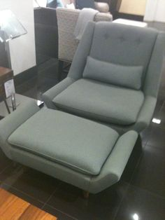 Sterling Chair and ottoman via Bloomingdales.