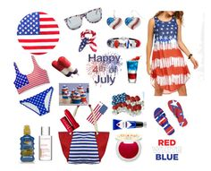 """""""4th Of July Fun In The Sun"""" by siriusfunbysheila1954 ❤ liked on Polyvore featuring Nasty Gal, Xhilaration, OXYDO, Mudd, Bling Jewelry, Nivea, Clarins, Supergoop!, Jack Black and Fresh"""