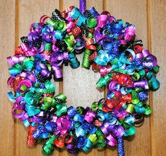 Birthday Ribbon Wreath