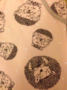 Hedgehog Pyjama Print
