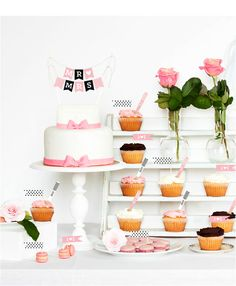Bride To Be Cake Bunting Pink Party Printables Flags