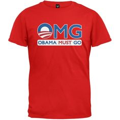 Obama Must Go Red T-Shirt