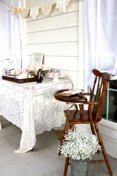 on the front porch- LOVE the idea...  Also, I like the Pottery Barn tray.  How could I use that? :)
