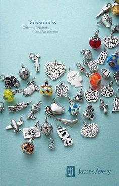 James Avery charms  Start looking for new charms for your birthday : )