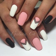 nail art designs for spring ; nail art designs for winter ; nail art designs with glitter ; nail art designs with rhinestones Stylish Nails, Trendy Nails, Cute Nails, My Nails, Cute Simple Nails, Cute Nail Designs, Acrylic Nail Designs, Simple Nail Art Designs, Simple Nail Arts
