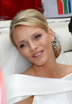 The beautiful Princess Charlene of Monaco after her wedding ceremony.
